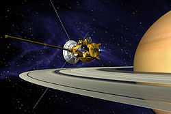 Cassini probe approaching Saturn