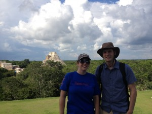 Andreas and I at Uxmal
